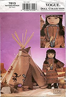 Vogue Doll Collection Pattern 7813 18-Inch Doll Native American Accessories