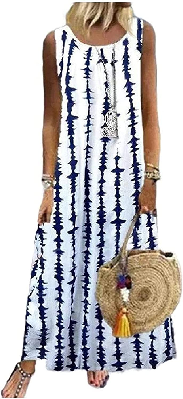 REWORDGT Tulsa Mall Women Loose Swing Stripe Casual Shirts Dres online shopping Long T Maxi