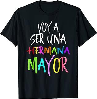 Voy a ser una Hermana Mayor, Camiseta Chevere, Spanish Shirt