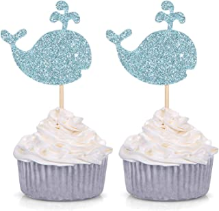 24 x 1ST BIRTHDAY MIXED SEA ANIMALS EDIBLE CUPCAKE TOPPERS CAKE RICE PAPER 8308