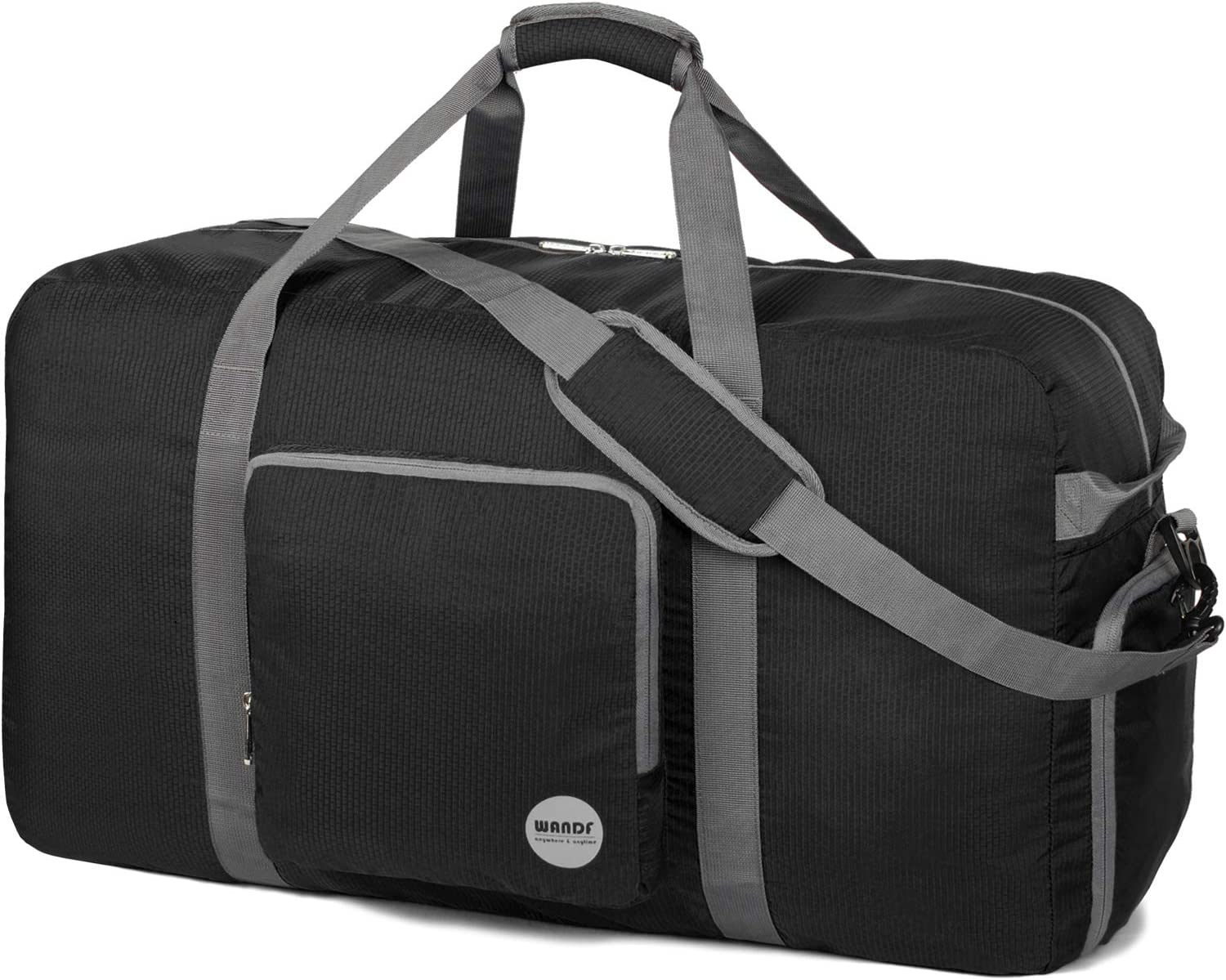 Foldable Duffle Bag 100L Super Lightweight Travel Duffel for Luggage Sports Gym Water Resistant Nylon by WANDF