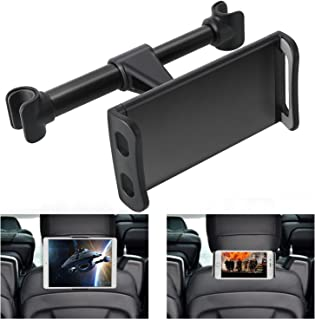 Car Headrest Mount, Phone Tablet Car Headrest Grip Mount Stand Cradle Holder Compatible for iPad Mini Pro Air, iPhone XR XS MAX X 8 7 6 6s Plus, Kindle Fire, Samsung Tab, 4~11 inch Smartphone Tablet