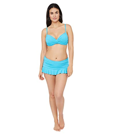 La Blanca Island Goddess Twist Front Bra Bikini Swimsuit Top (Poolside) Women