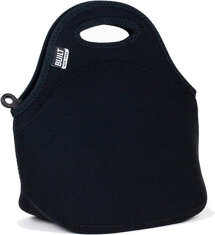 BUILT LB31 BLK Gourmet Getaway Soft Neoprene Lunch Tote Bag Lightweight Insulated And Reusable Black