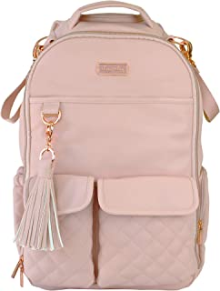 Itzy Ritzy Diaper Bag Backpack – Large Capacity Boss Backpack Diaper Bag Featuring Bottle Pockets, Changing Pad, Stroller Clips and Comfortable Backpack Straps, Blush