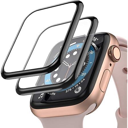 Upeak [2 Paquetes] Compatible con Apple Watch Series SE/6/5/4 40mm Película Protectora de Pantalla HD, Película Protectora Flexible Curvada 3D Antirrayas con Cobertura Máxima sin Burbujas