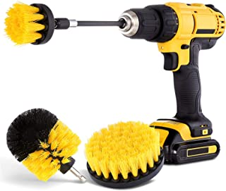 Hiware 4 Pack Drill Brush Attachment Set – Power Scrubber Brush Cleaning Kit..