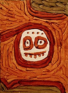 kunst für alle Art Print/Poster: Paul Klee White-Brown mask Picture, Fine Art Poster, 15.7x21.7 inch / 40x55 cm
