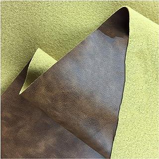 Similicuir Faux Cuir Tissu Canapé Meubles en Cuir PU Simulation Cuir Matériel Rembourrage Artisanat Siège de Voiture , Gri...
