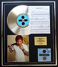 ED Sheeran/CD Disco Gold, Song Sheet & Photo Display/LTD. Edición/COA/Album Divide/Song Sheet Castle ON The Hill