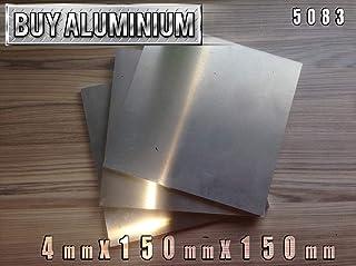 Placa de aluminio de 4 mm, grado 5083, 150mm x 150mm, 1
