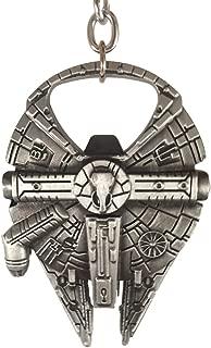 Millennium Falcon Bottle Opener 4pc Gift Set - Fully Functional Metal Star Wars Millenium Keychain Opener + Lanyard + 2 Bonus Fan items