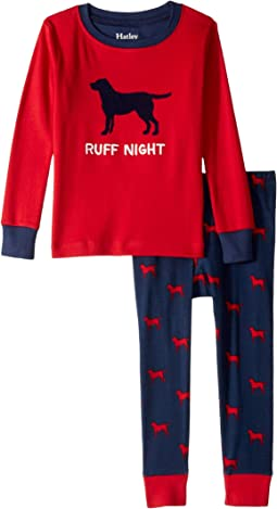 Ruff Night Organic Cotton Applique Pajama Set (Toddler/Little Kids/Big Kids)