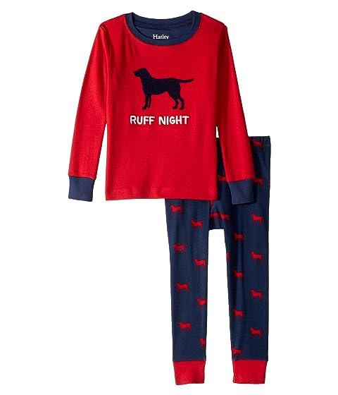 9dc52a1f1563 Hatley Kids Ruff Night Organic Cotton Applique Pajama Set (Toddler ...