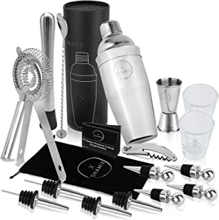 19-Piece Cocktail Shaker Set and Bartender Kit with...