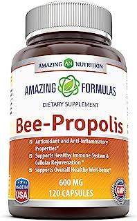 Amazing Nutrition Amazing Formulas Bee Propolis Dietary Supplement - 600 mg - 120 Capsules (Non-GMO,Gluten Free) - Antioxi...