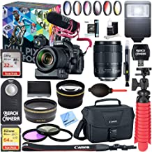 Canon EOS 80D Video Creator with 18-135mm Lens, Rode VideoMic + 64GB Memory + LP-E6 Rechargeable Battery + Accessory Bundle