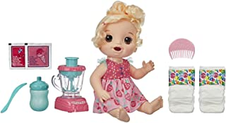 Baby Alive Magical Mixer Baby Doll Strawberry Shake with Blender Accessories, Drinks,..