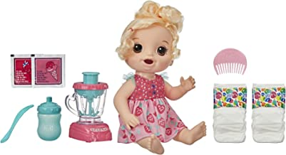 Baby Alive Magical Mixer Baby Doll Strawberry Shake with Blender Accessories, Drinks, Wets, Eats, Blonde Hair Toy for Kids...