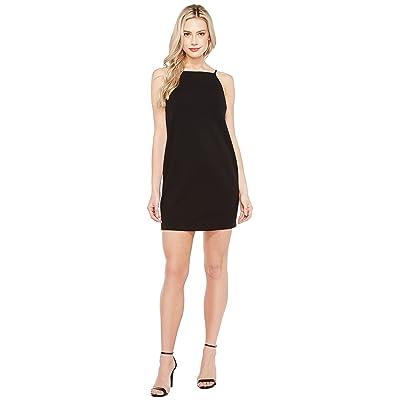 Maggy London Open Back Crepe Scuba Shift Dress (Black) Women