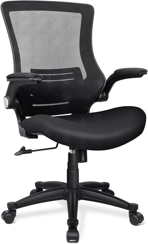 Funria Genuine Mesh Office Chair Nippon regular agency Ergonomic Mid Desk Back Co Black Swivel