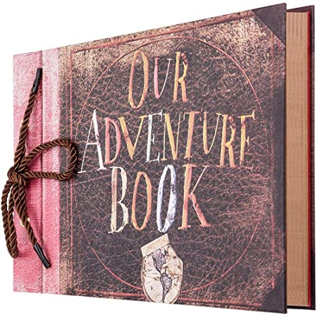 Bestine Our Adventure Book Album Photo Scrapbooking RéTro DIY Livre De Photos Kraft Avec BoîTe Cadeau pour Mariage Livre D'Or Cadeau Anniversaire Amis Voyage NoëL FêTe Des MèRes