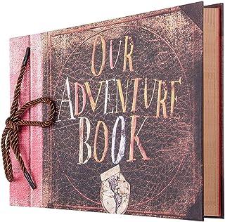 Bestine Our Adventure Book Album Photo Scrapbooking RéTro DIY Livre De Photos Kraft Avec BoîTe Cadeau pour Mariage Livre ...
