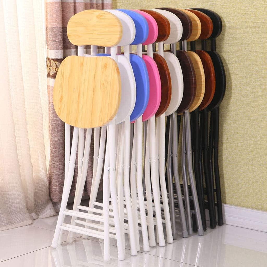 Président WGZ- Chaise de Table Pliante à la Maison et Banc de Dossier à la Mode Simple Portable créatif Simple (Color : D) B