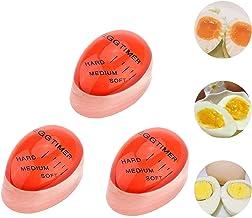 Merveilleux 3 Pack Egg Timer Heat Sensitive Hard Medium Soft Boiled Color Changing Reusable Perfect Egg Timers