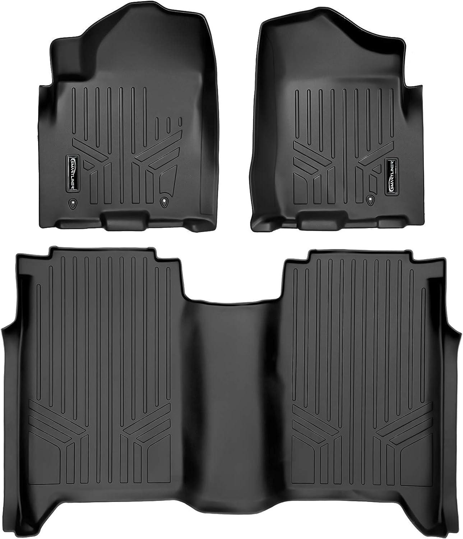 MAXLINER Floor Mats 2 Row Liner for Black Our shop most New life popular 2008-2015 Nissan T Set