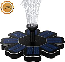 AMYER Solar Fountain, Solar birdbath Fountain, Solar Powered Fountain Pump, 1.7W Solar Panel Kit, Solar Water Fountain for Pool, Pond, Garden, Fish Tank, Aquarium