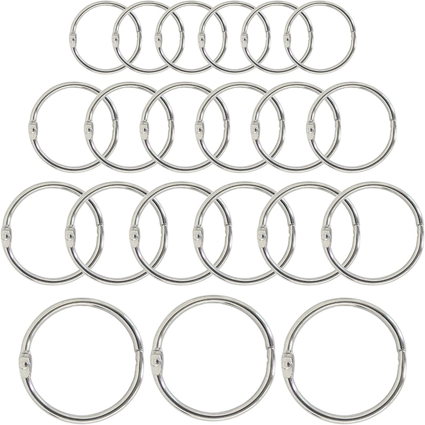 LQHZ Binder 5 10Pcs Metal Loose-Leaf Ring Sales for sale Max 85% OFF 15-80mm Albums