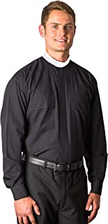 8000 Cottonrich Neckband (Banded Collar) Clergy Shirt Long Sleeves