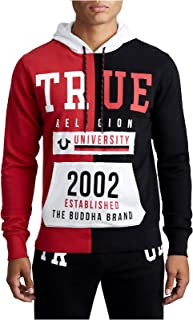 True Religion Men's Split TR University Active Pullover Hoodie Sweatshirt