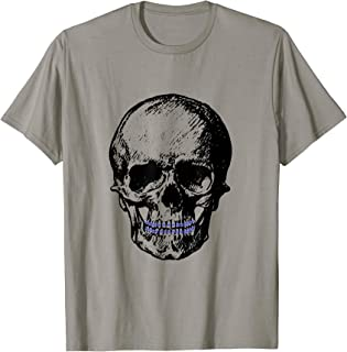Creepy Skull With Braces Cool Halloween T-Shirt