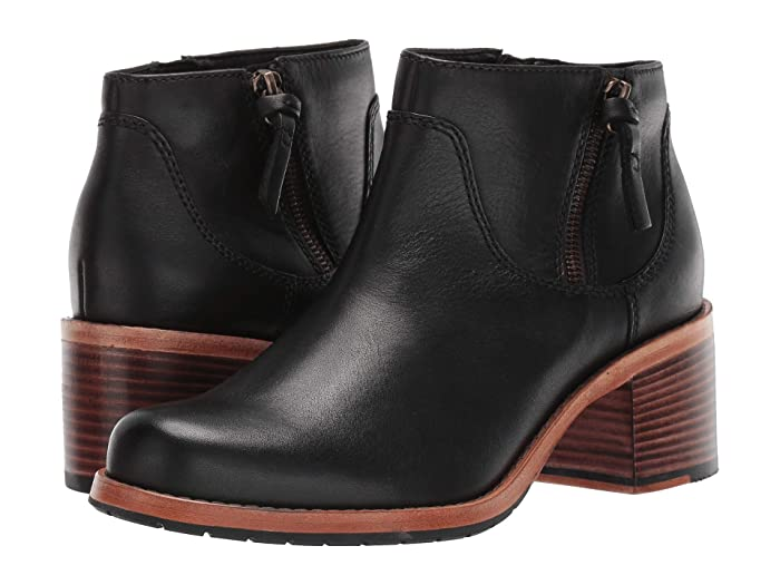 Clarks  Clarkdale Dawn (Black Leather) Womens Boots
