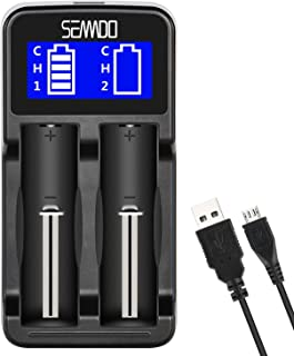 Intelligent Charger, SEANADO LCD Display Universal Smart Charger for Rechargeable Batteries Li-ion Batteries 18650 18490 1...