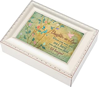 Daughter-in-Law Love Ivory Finish Jewelry Music Box Plays Tune Ave Maria