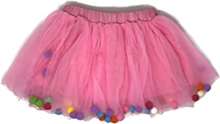 Rush Dance Ballerina Girls Dress-up Pom Pom Puff Balls Costume Recital Tutu