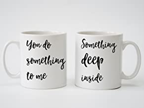 Paul Weller You Do Something to Me Song Lyrics Personalised Print - Pair of Mugs for Anniversary, Wedding, Engagment