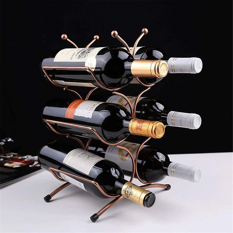 Wine Ranking TOP13 Rack Simple Iron Curve Retro Tucson Mall S European