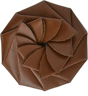 Genuine Leather Coin Purse Change Pouch Spiral Squeeze Design 92808BR