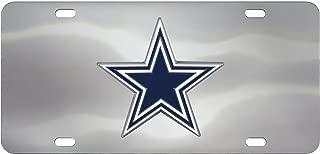 FANMATS NFL Dallas Cowboys Die Cast License Platedie Cast License Plate, Chrome, 6