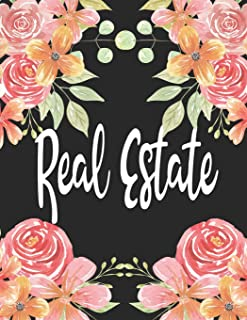 Real Estate: 1 Subject 100 Pages College Ruled 8.5 x 11 Composition Notebook Journal for School Classes - Real Estate Realtors