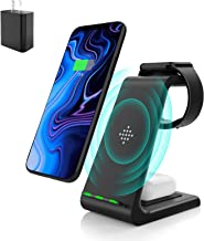 Wireless Charging Stand, Muleug 3 in 1 Wireless Charger Charging Station Dock for Apple Watch 5 4...