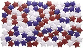 Daricepony Beads - Acrylic - Star - Opaque Red, White & Blue - 7 X 12Mm - 1 Lb