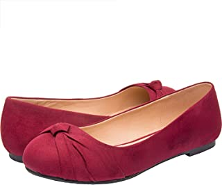 145b135da4 Luoika Women's Wide Width Flat Shoes - Comfortable Slip On Round Toe Ballet  Flats