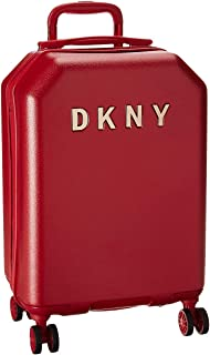 DKNY Metal Logo Hardside Spinner Luggage, Red, 22 Inch