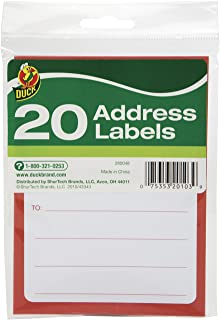 Duck Brand To/From Pressure-Sensitive Address Mailing Labels, 20 Label Pack (280048)