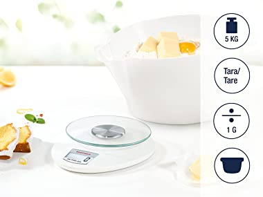 Soehnle 65857 Roma Plus Kitchen Scale, Digital Food Scale with Display, acccurate Gram Scale for Measuring up to 5 kg, Electr